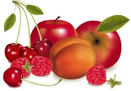 cerises et pommes