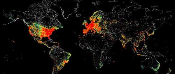 repartition internet dans le monde